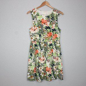 Everly Floral Print Sleeveless Mini Dress sz M